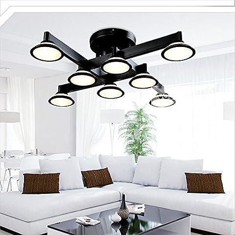 Lampes de plafond LED Plafonniers en aluminium pour salon Chambre