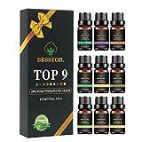 Juego de aceites esenciales de grado terapéutico TOP9, Besstoil 100%...