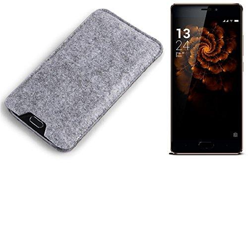 K-S-Trade Filz Schutz Hülle für Allview X3 Soul Pro Schutzhülle Filztasche Filz Tasche Case Sleeve Handyhülle Filzhülle grau