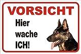 AdriLeo Schild Vorsicht Deutscher Schäferhund Hier wache ich 15x20 oder 20x30 (15x20cm)