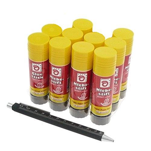 10 x Klebestift 20 g lösungsmittelfrei | Klebestick 20 Gramm 10er-Pack | Bastelkleber