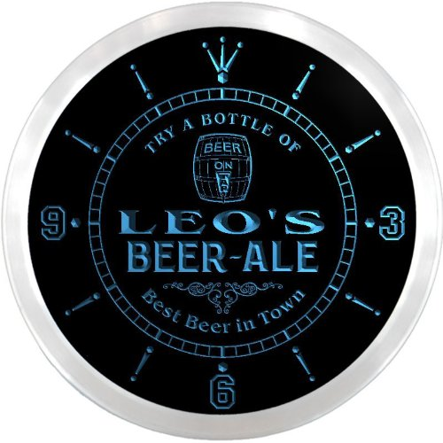 ncpn0168-b-leos-best-beer-ale-in-town-bar-pub-led-neon-sign-wall-clock