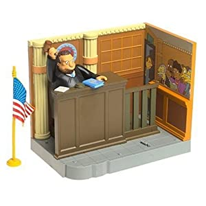 Simpsons World of Springfield Enviornment with Figure: Court Room with Judge Snyder by Playmates Toys Inc. 2
