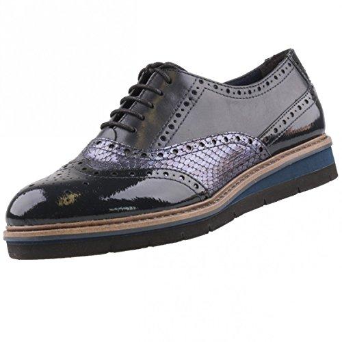 TAMARIS Damen Schnürschuhe Blau, Schuhgröße:EUR 40