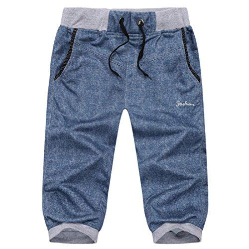 Men's Fashion Summer Capri Shorts blue