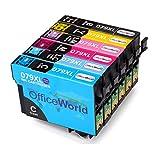 OfficeWorld Ersatz für Epson T0791-T0796 Druckerpatronen Kompatibel für Epson Stylus Photo 1400 1500W P50, Epson Artisan 1430 (1 Schwarz, 1 Cyan, 1 Magenta, 1 Gelb, 1 Hell Cyan, 1 Hell Magenta)