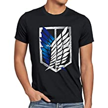 A.N.T. Titans Bataillon d'exploration T-Shirt Homme des Attaque
