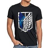 A.N.T. Giganti Legione Esplorativa T-Shirt da Uomo Attacco dei AOT, Dimensione:L