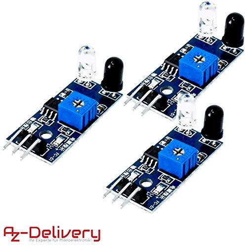 AZDelivery ⭐⭐⭐⭐⭐ 3 x IR infrarrojos Módulo para kollissions y obstáculos Detección Sensor de distancia para Arduino y Raspberry Pi