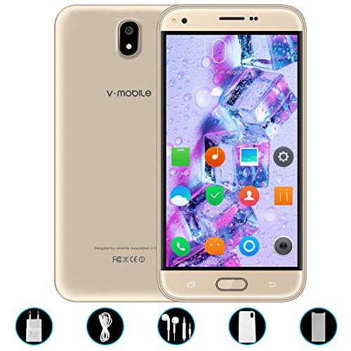 V Mobile J5 Telefonos Moviles 4g,8Pcs 5.5 Pulgadas 8GB ROM 5MP Cámara Doble Sim 2800mAh Batería Android 7,0 Smartphone Telefono Movil Libres Baratos 1.3GHz Quad CoreWIFI GPS Bluetooth