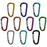 BB SPORT 10er Set Materialkarabiner Karabiner Closure Mix in Verschiedenen Farben Schlüsselanhänger Karabinerhaken Zubehörkarabiner, Farbe:Fun