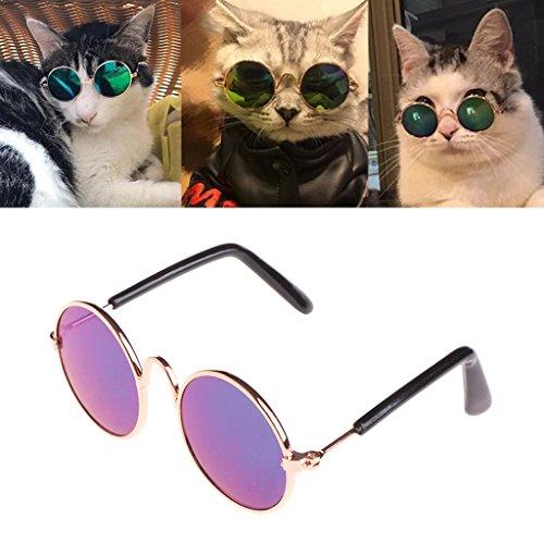 Kofun Haustier-Sonnenbrille für Katzen-Hund UVschutz-Eyewear Fotos Props kühlen 1 Stück-Farben nach dem Zufall ab