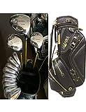 HDPP Club di Golf Golf Club S-05 Set di 3 Mazze da Golf Complete Driver + 3/5 Fairway Wood + Ferri + Putter + Bag Coperchio in Grafite