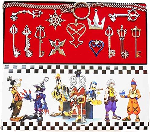 Xiemushop Kingdom Hearts 2 II Keyblade Schlüsselanhänger Halskette Set Box 13pcs Collection