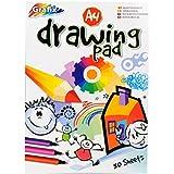 A4 normal Dibujo y Coloración Pad - 80 hojas = 160 páginas - acolchado - Tamaño 297mm x 210mm
