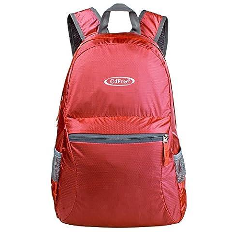 G4Free Faltbarer Rucksack Ultraleicht Rucksack 25L Daypack für Männer Frauen und Kinder für Outdoor Wandern Camping Reisen