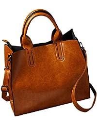 LuckES moda mujeres Simple mensajero bolsas bolsas mujeres bolso de hombro De Mujer Tote Bolsas De Hombro Gran tapa de cuero de la PU Mensajero Bolso Bandolera