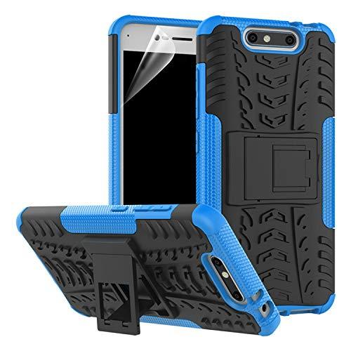 betterfon | Outdoor Handy Tasche Hybrid Case Schutz Hülle Panzer TPU Silikon Hard Cover Bumper für ZTE Blade V8 Blau