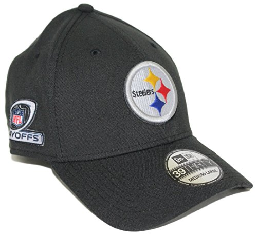 Pittsburgh Steelers New Era NFL 39THIRTY Team Classic Playoff Patch Flex Hat (Patch Steelers)