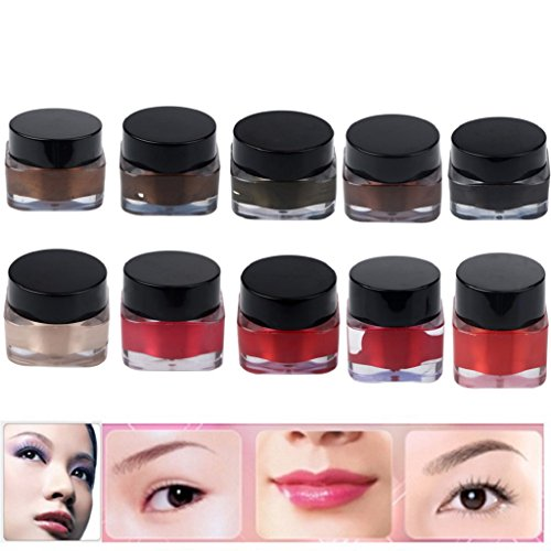 LHWY 10pcs High-graded pigment permanent maquillage sourcil tatouage
