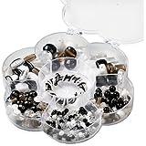 Knorr Prandell 6049160 - Cuentas con diversas formas de flores (6 diseños, 90 g, cordel, fabricado a mano), color blanco y negro