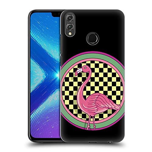 Head Case Designs Offizielle Howie Green Pop Art Flamingos Kreis Harte Rueckseiten Huelle kompatibel mit Huawei Honor 8X / View 10 Lite -