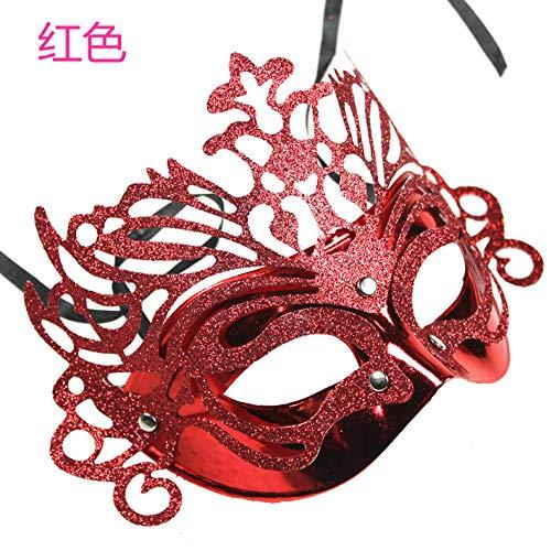Kostüm Für Lustige Erwachsene Männliche - JRKJ Kronprinzessin Maske Gruselige & Lustige Masken - Perfekt Für Karneval & Halloween - Erwachsenen Kostüm Unisex Für Alle , ClownMännliche Maske, Weibliche Maske @ Rot