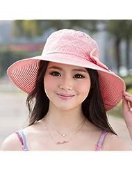 La Sra. Pajarita Sombreros La versi¨®n coreana de la encantadora sombreros Stetson.Sombreros de paja de verano Beach