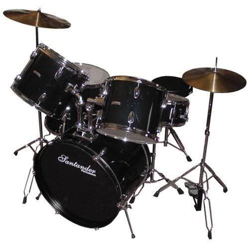 santander-drum-set-with-stand-cymbals-throne-black