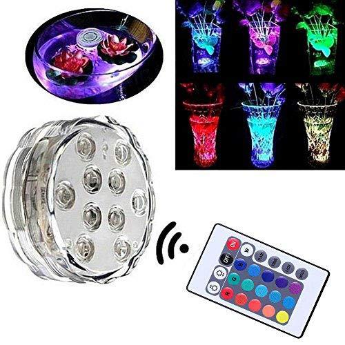 caxmtu LEDs Beleuchtung Lampe Wasserdichte Fernbedienung Colorful für Aquarium Tauchen Unterwasser Fische Tank