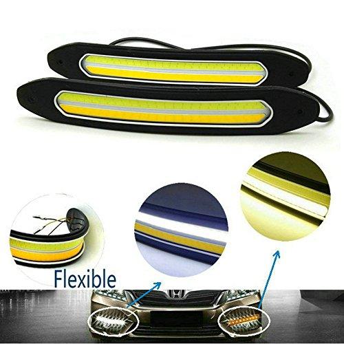 Heinmo 2 Stück Flexible High Power 6 W 12 V Cob LED DRL Tagfahrlicht Fahrlicht Tagfahrlicht mit Blinker Licht für Auto Fahrzeug Universal Wasserdicht IP67