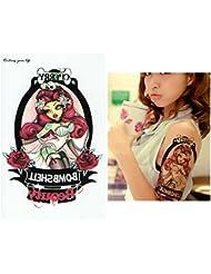 Tatouages éphémères Tattoo temporaire faux tatouage–Pin Up -