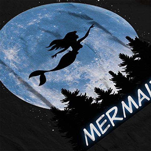 Mermaid ET Moon Silhouette Women's Sweatshirt Black