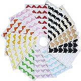 Kbnian 13 Blätter Fotoecken Selbstklebend Vintage klebeecken für DIY Scrapbook
