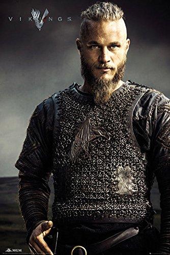 Empire Interactive - Poster, soggetto: Ragnar Lothbrok Vikings multicolore