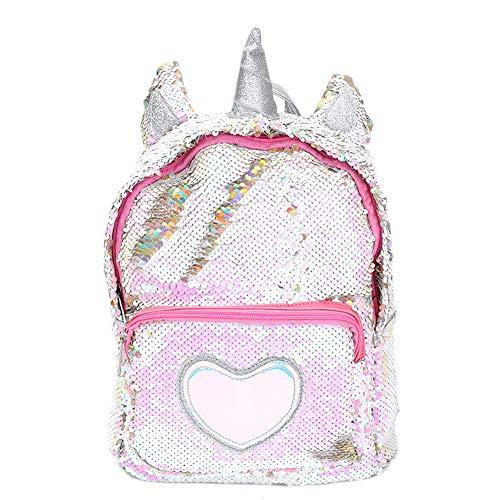 Zaino paillettes, paillettes zaino unicorno zaino carino trendy per bambini scuola scuola zaino ragazza zaino ragazza carina (1)