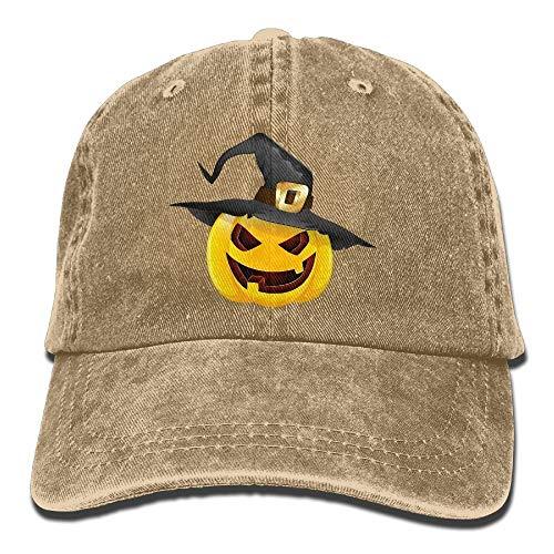 Männer & Frauen Kürbis Halloween Vintage Washed Gefärbte Baumwolle Einfarbig Baseballmütze One Size New11