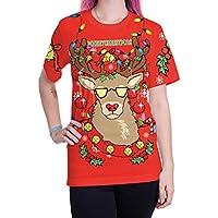 Hombre Blusa Navidad,Merry Christmas Fashion elk Camiseta Manga Corta Sudadera Invierno para Hombre Casual de Yesmile