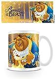 1art1 Set: Die Schöne Und Das Biest, Märchen Schreibt Die Zeit Foto-Tasse Kaffeetasse (9x8 cm) Inklusive 1x Überraschungs-Sticker