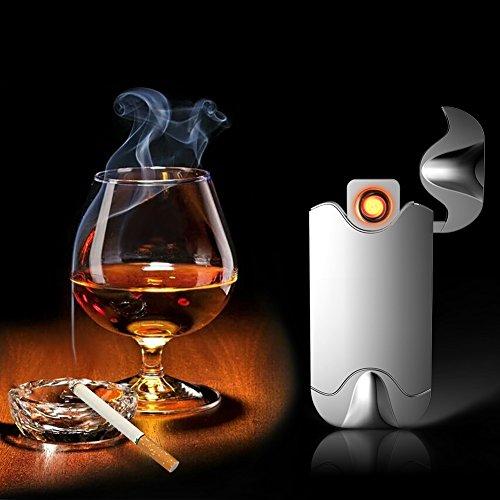 Elektronisches Feuerzeug von Outry, Gl&uumlhdraht Feuerzeug mit USB umweltfreundlich, windfest, elegant und schnell wieder aufladbar
