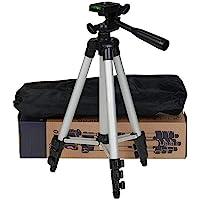 Tripod 3110 Smart Aluminium Adjustable Portable and Foldable Tripod Stand Clip and Camera Holder