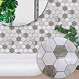 Pegatinas de pared Papel tapiz extraíble Etiqueta de azulejo Autoadhesiva Impermeable Azulejos a prueba de aceite Arte de pared de vinilo para cocina de baño Arte de la pared Murales