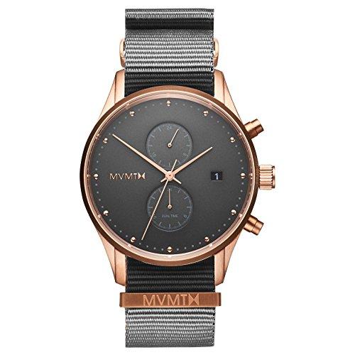 MVMT Herren Chronograph Quarz Uhr mit Nylon Armband D-MV01-RGGR2