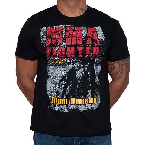 Dirty Ray Arti Marziali MMA Fighter Division maglietta T-shirt uomo K67 (M)