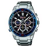 Casio - EFR-534RB-1AER - Montre Homme - Quartz Chronographe - Chronomètre/Aiguilles Lumineuses - Bracelet Acier Inoxydable Argent