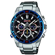 Casio Herren-Armbanduhr XL Edifice Red Bull Racing Collection Chronograph Quarz Edelstahl EFR-534RB-1AER