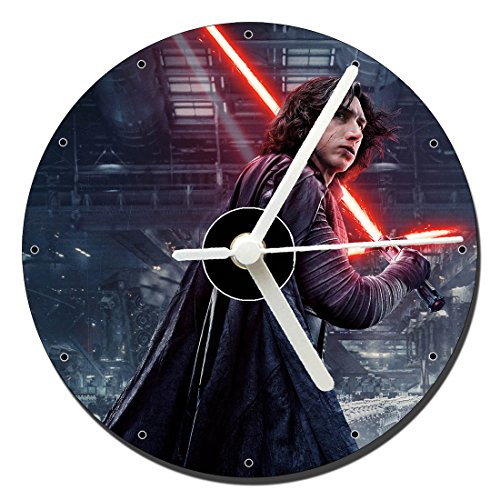 MasTazas Star Wars Los Ultimos Jedi The Last Jedi Adam Driver Kylo REN Reloj CD Clock 12cm