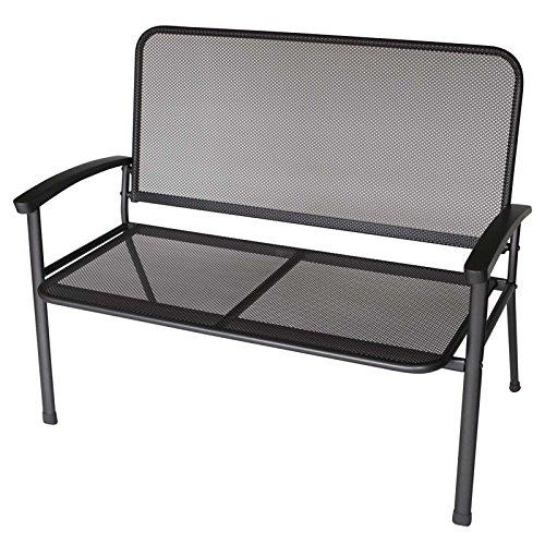 Gartenbank RIVO 2-Sitzer, Metall / Streckmetall, Farbton: eisengrau