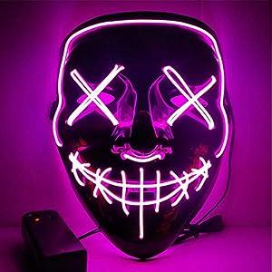 Mascara Halloween LED, Zolimx Adultos