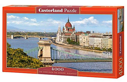 Preisvergleich Produktbild Castorland C-400126-2 - The View Over the Danube, Budapest, 4000 Puzzle, Klassische Puzzle